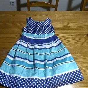 Jessica Ann blue and teal sleeveless dress